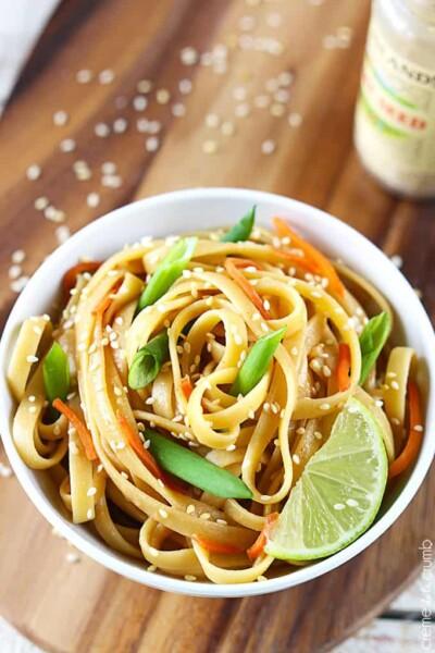 Sesame Peanut Noodles - One of the Best Easy Pasta Recipes. The Recipe Critic, Alyssa Rivers.
