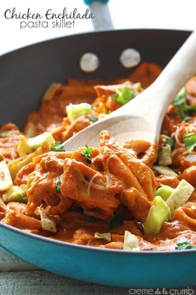 Chicken Enchilada Pasta Skillet - One of the Best Easy Pasta Recipes. The Recipe Critic, Alyssa Rivers.