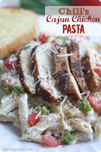 Chicken Cajun Pasta from Chili's - One of the Best Easy Pasta Recipes. The Recipe Critic, Alyssa Rivers.