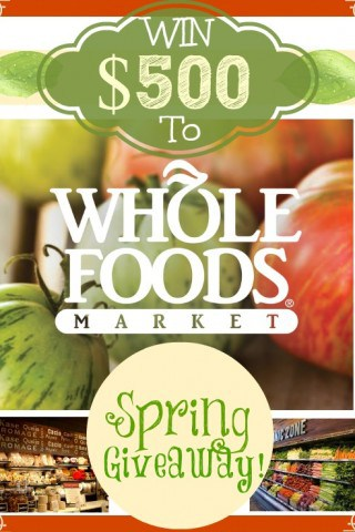 Whole Foods $500 Giveaway