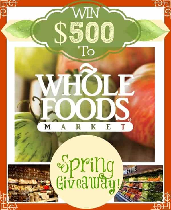 Whole Foods Giveaway Pic