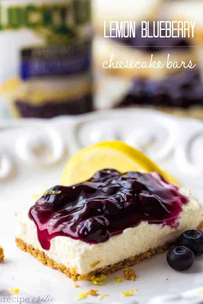 No Bake Lemon Blueberry Cheesecake Bars | The Recipe Critic ...