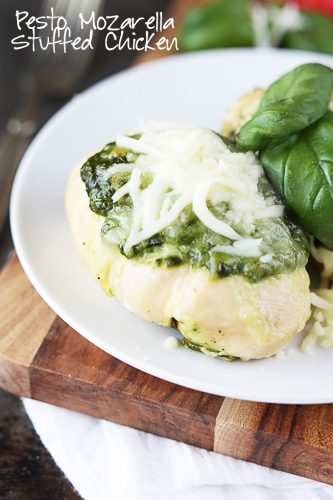 Pesto & Mozzarella Stuffed Chicken