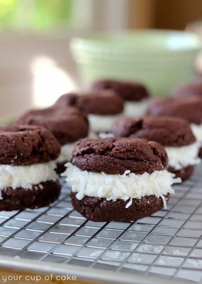 Chocolate Coconut Whoopie Pies