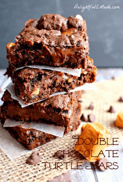 Double-Chocolate-Turtle-Bars-by-Delightful-E-Made-2-695x1024