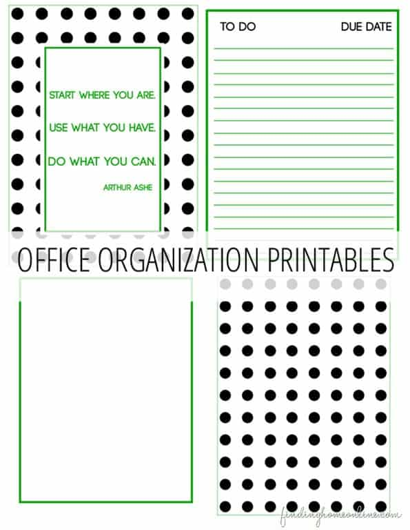 Office Organization Printables