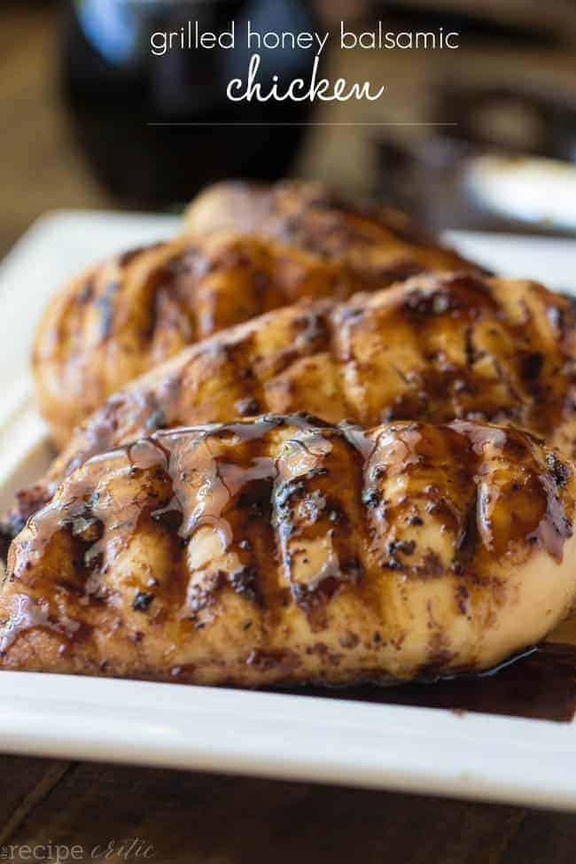 Grilled honey balsamic chicken from the Recipe Critic // Best recipes for BBQ season - PumpUp Blog Favorites