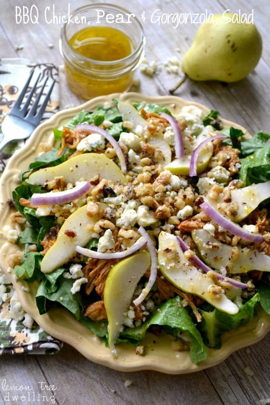 BBQ Chicken, Pear & Gorgonzola Salad 1b