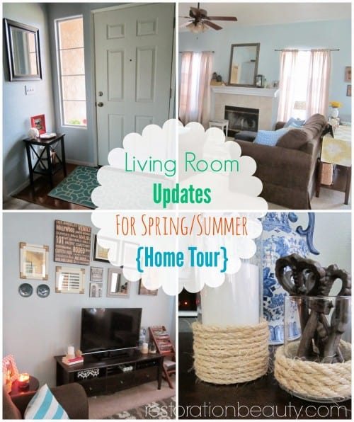 living room updates for spring summer home tour