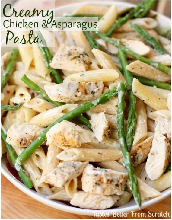 Chicken and Asparagus Pasta
