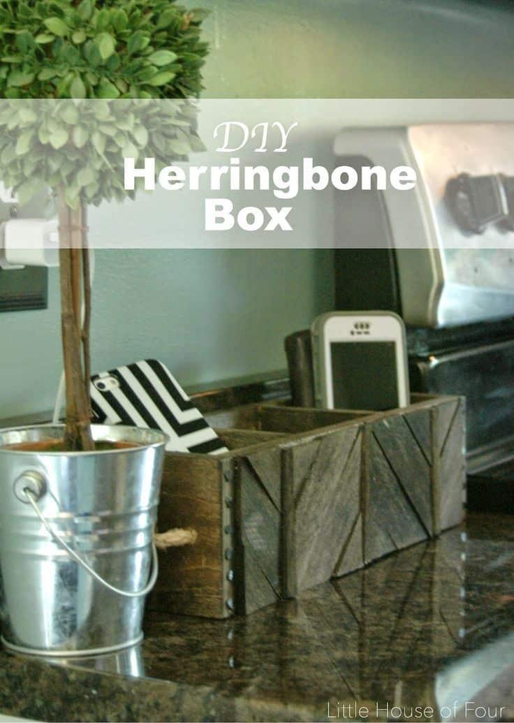DIY Herringbone Box