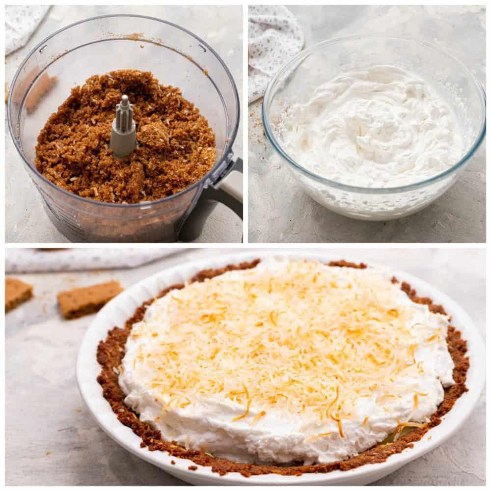 Steps to make key lime pie.