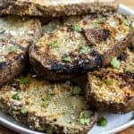 Grilled Parmesan Garlic Potato Planks