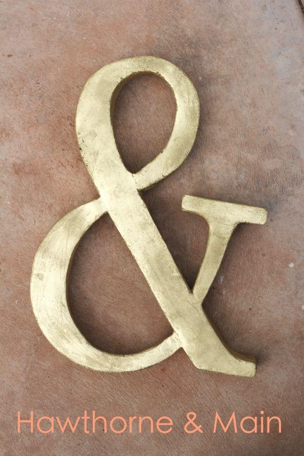 DIY Ampersand
