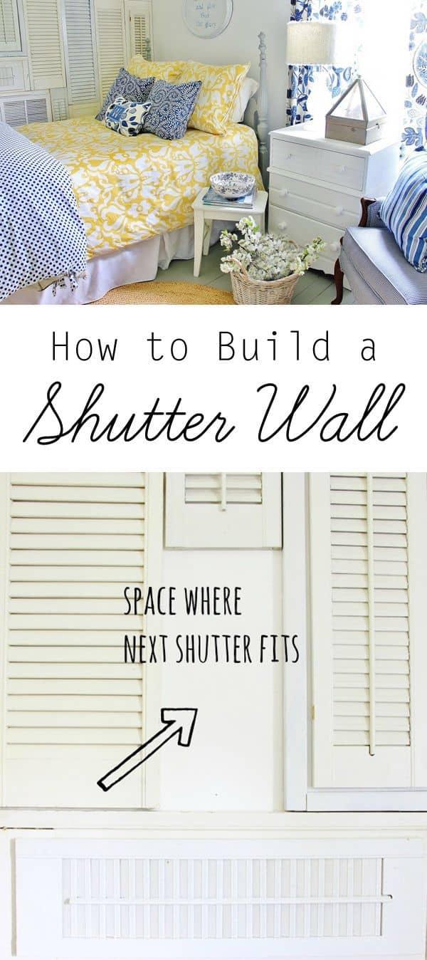 DIY Shutter Wall