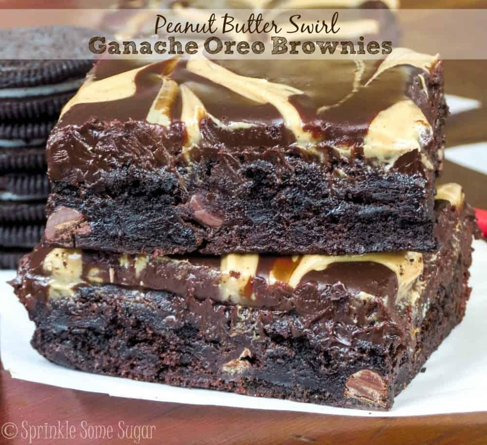 PB Swirled Ganache Oreo Brownies