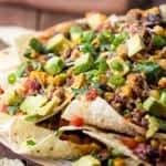 Beefy Enchilada Nachos