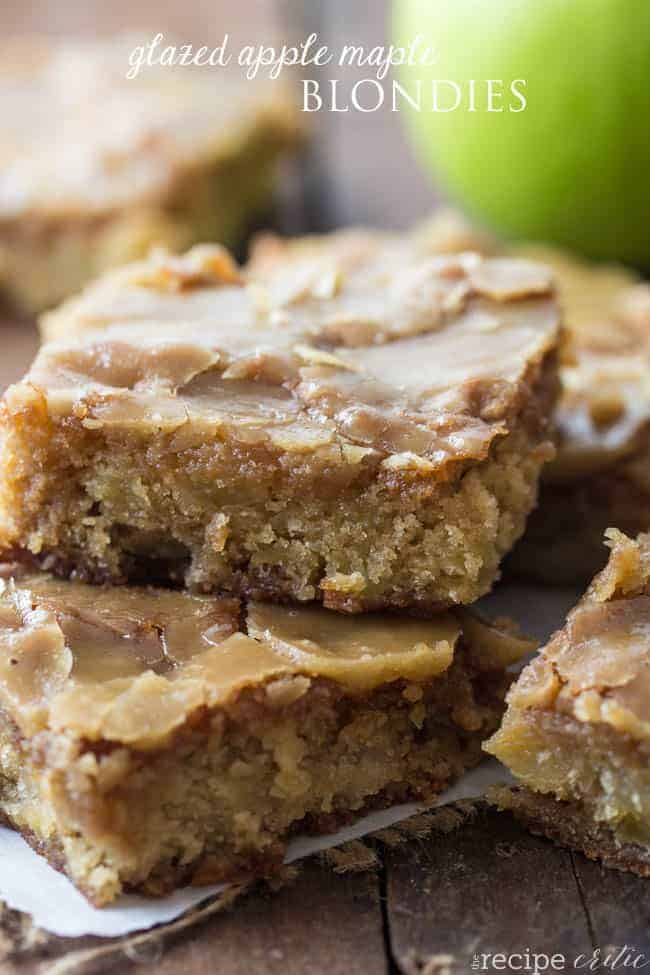 glazedapplemapleblondies