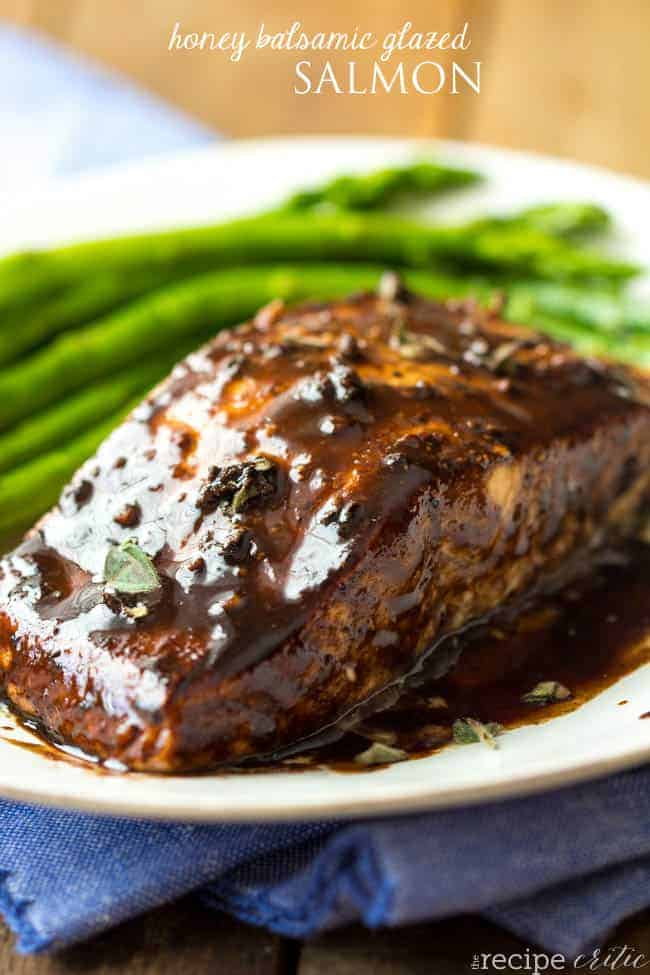 Balsamic And Raisin Glazed Salmon Recipe — Dishmaps