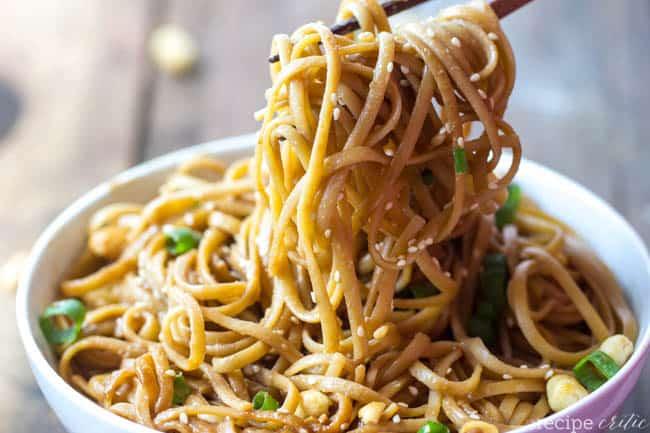 Thai Peanut Sesame Noodles | The Recipe Critic