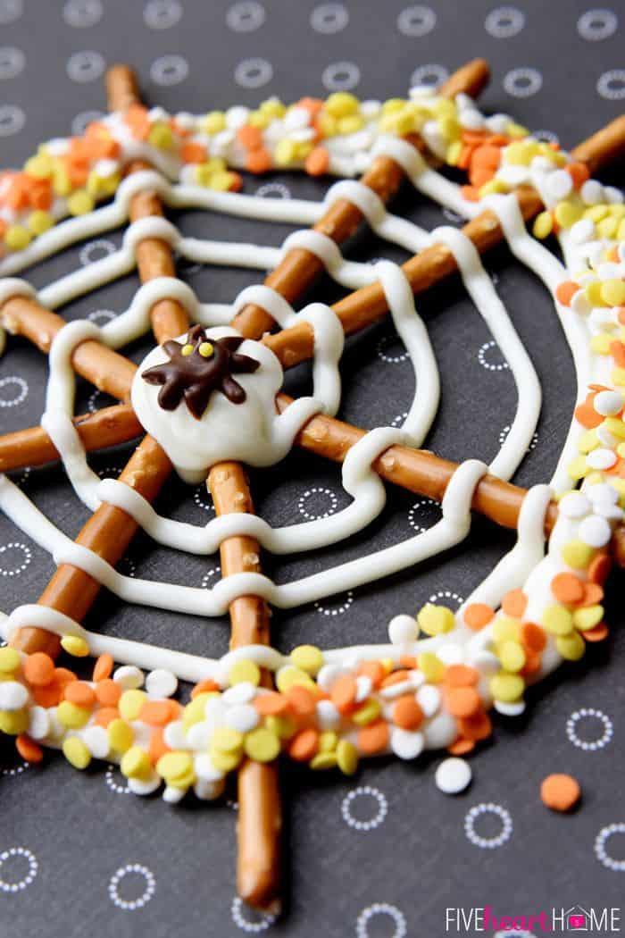 Pretzel Candy Spiderweb