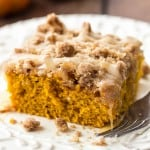 Cinnamon Streusel Pumpkin Coffee Cake with a Brown Butter Maple Glaze