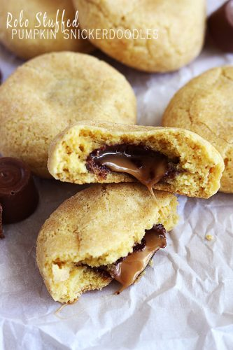 Rolo Stuffed Pumpkin Snickerdoodles