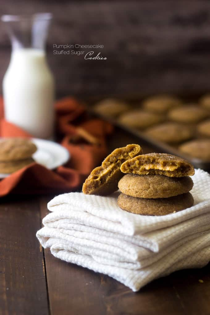 Pumpkin Stuffed Sugar Cookies