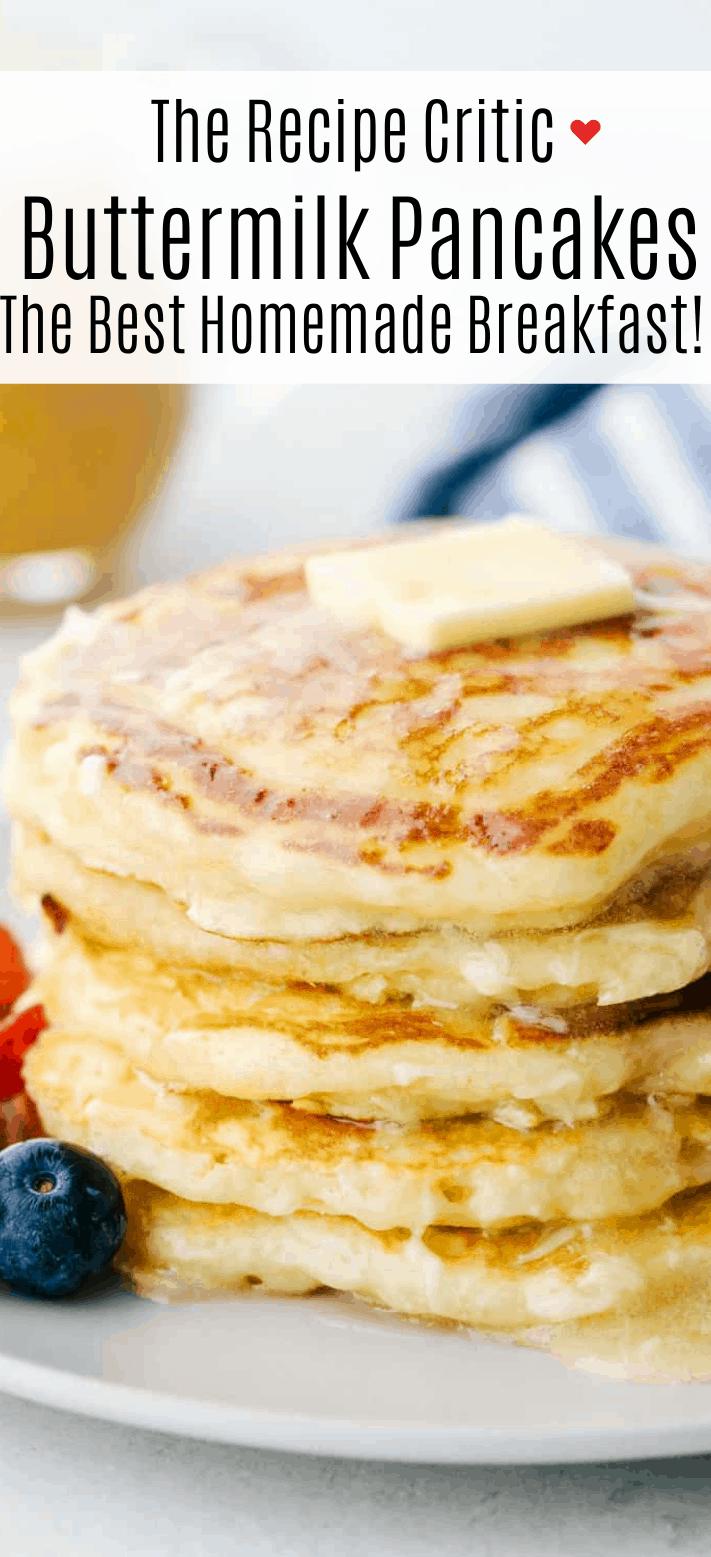 The Best Fluffy Homemade Buttermilk Pancakes | Cook & Hook