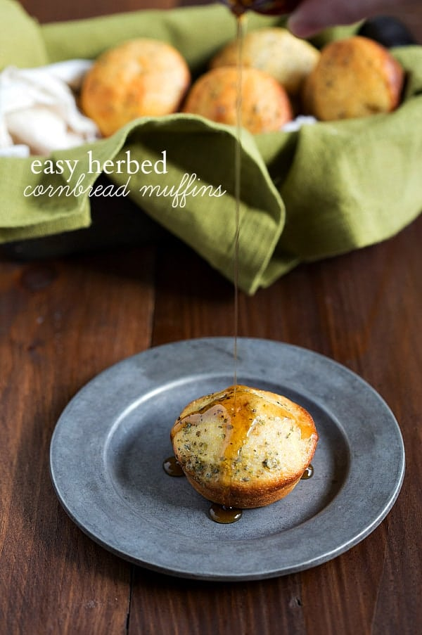 Herbed cornbread muffins