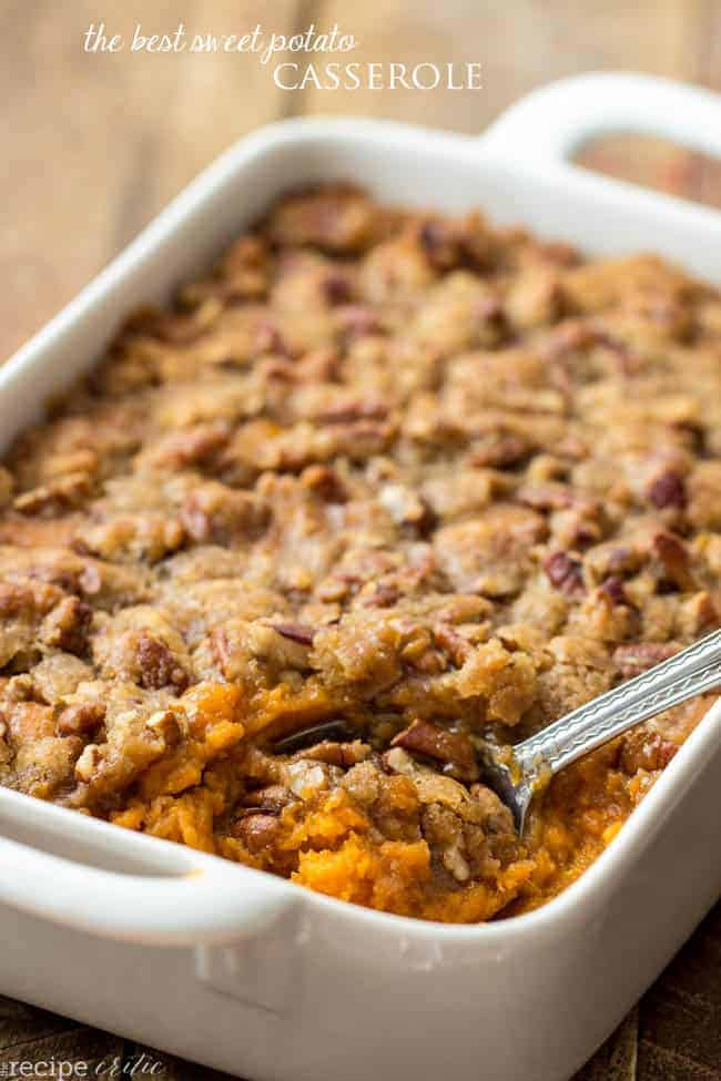 ... and Thanksgiving isn't complete without a Sweet Potato Casserole