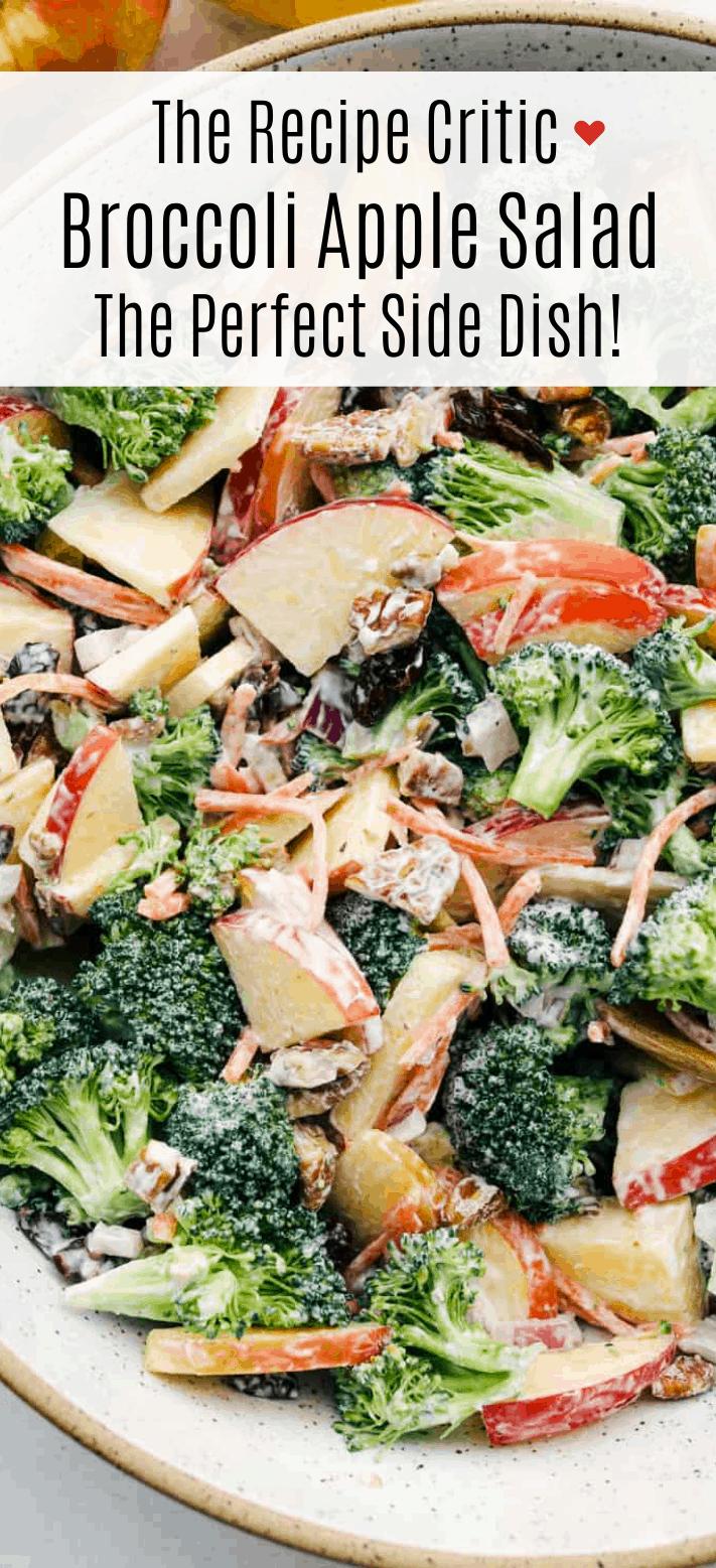 Salada Cremosa De Maçã De Brócolis |  The Recipe Critic 2