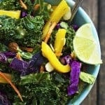 Asian Kale Ginger Peanut Salad