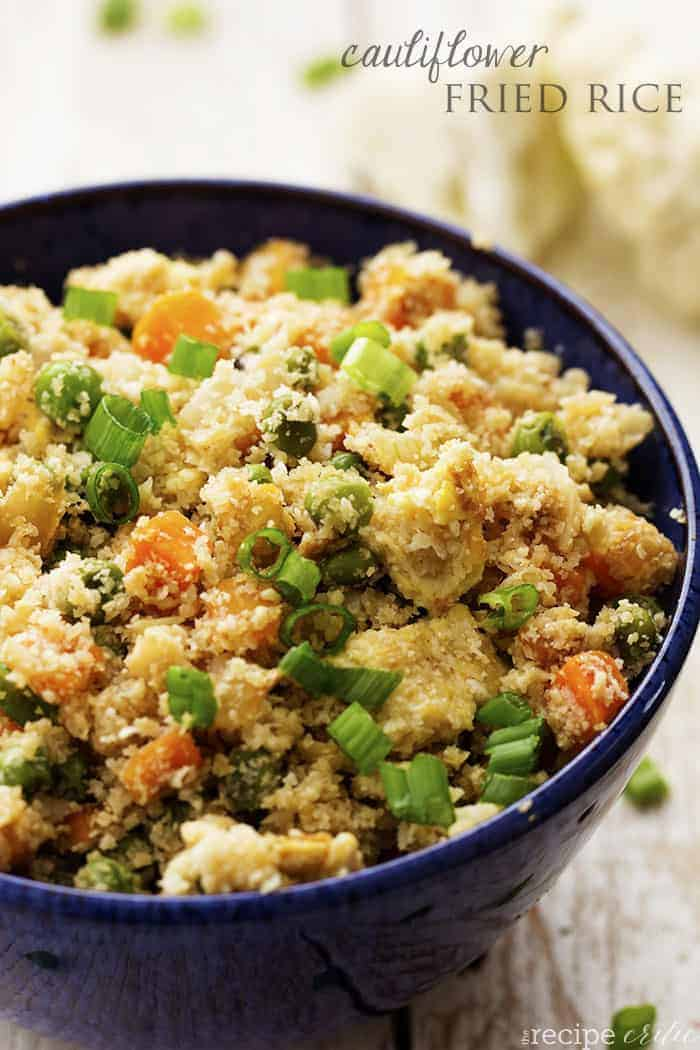 Cauliflower fried rice the recipe critic cauliflower fried rice ccuart Image collections