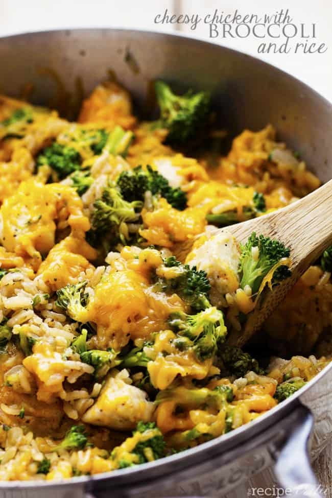 ... Pan Cheesy Chicken with Broccoli and Rice | Healthy Chicken Recipes