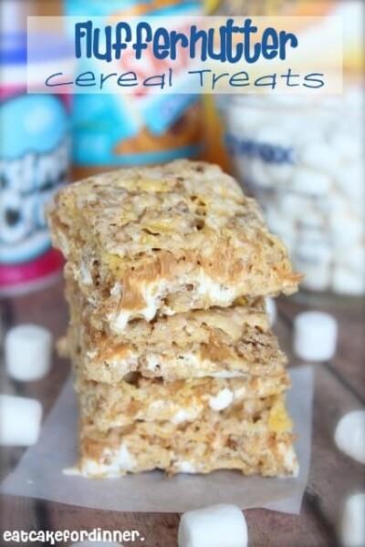 Fluffernutter Cereal Treats