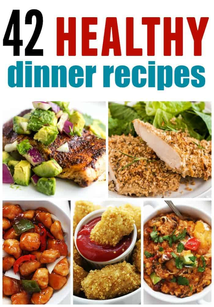 healthy dinners collage
