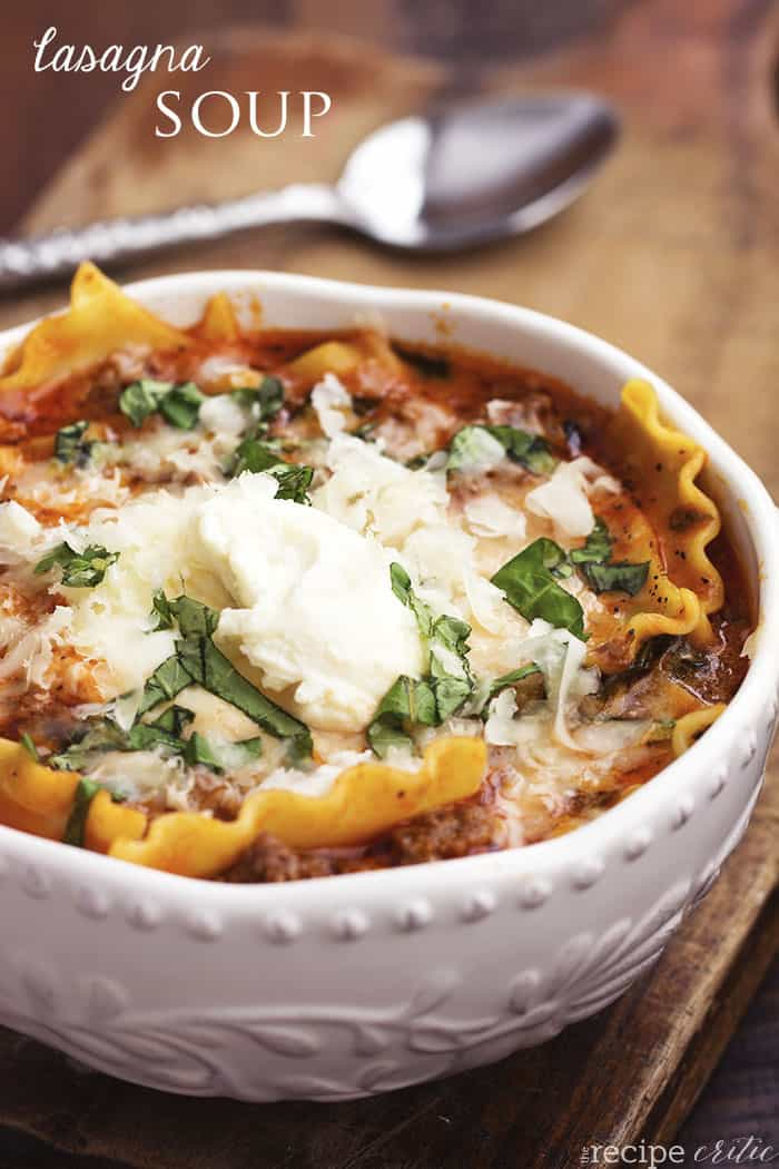 Lasagna Soup | The Recipe Critic
