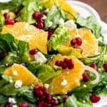 Orange  Pomegranate Salad  with a Zesty Orange Buttermilk Dressing