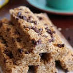 No Bake PB Choc Chip Granola Bar