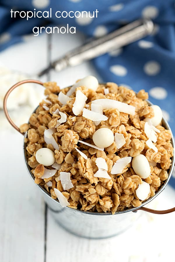 tropical granola with coconut