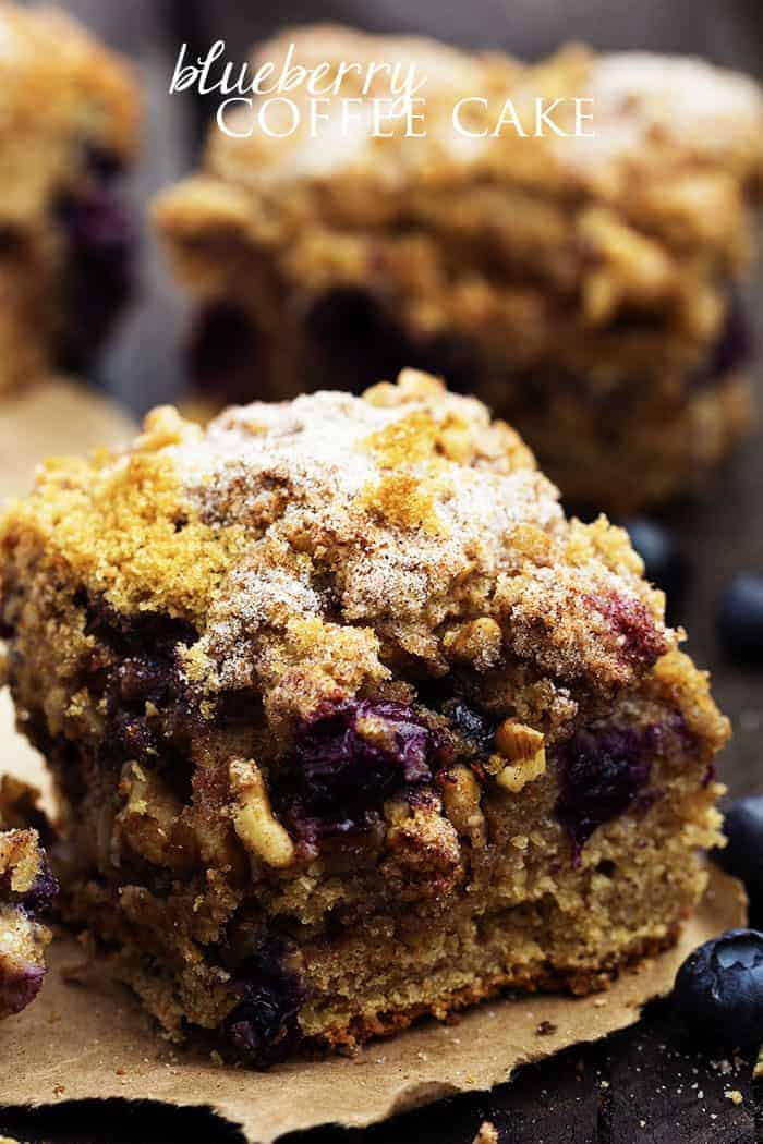 delicious and moist coffee cake bursting with fresh blueberries ...