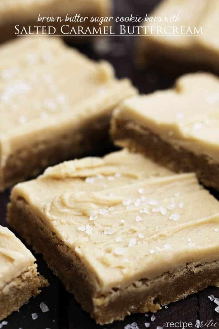 Brown Butter Sugar Cookie Bars with Salted Caramel Buttercream | The ...