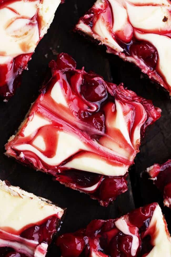 cherry cheesecake brownie squares.
