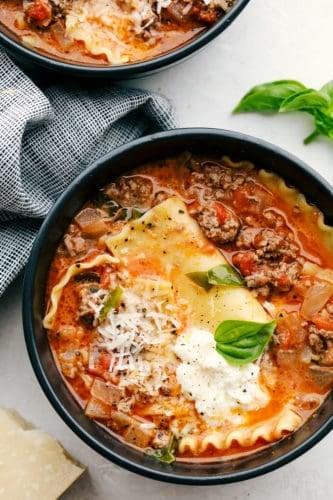 Sopa de lasanha |  The Recipe Critic 4