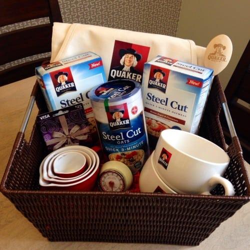 Giveaway Quaker basket.
