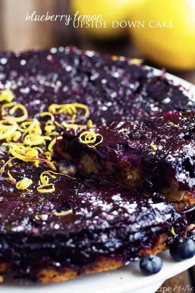 Blueberry Lemon Upside Down Cake The Recipe Critic
