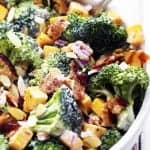 Creamy Broccoli Bacon and Cheddar Salad