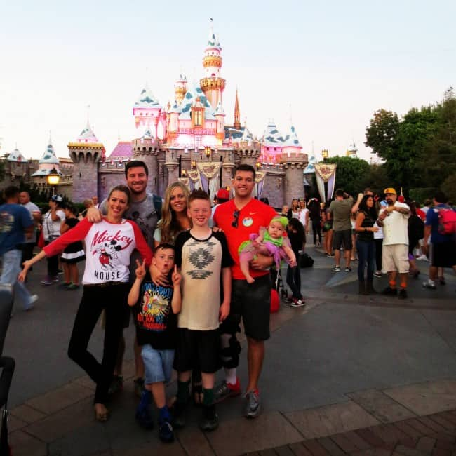 A family photo of us and my brother and sister in law at Disneyland.