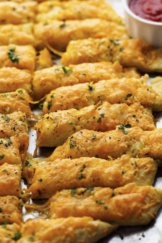 Cheesy Cheddar Garlic Breadsticks | The Recipe Critic